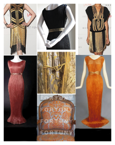 Fortuny Inspired Dresses and Interiors...